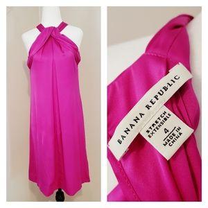 BANANA REPUBLIC | SILK SHIFT DRESS HOT PINK